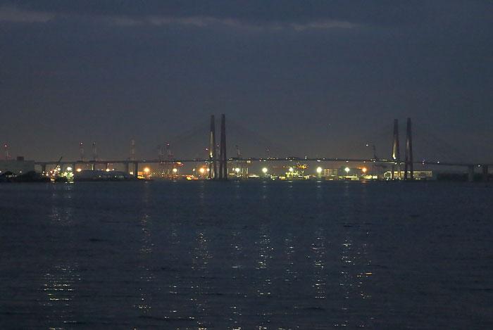 名港大橋と藤前干潟の夜景