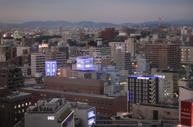 名古屋駅周辺の夕景