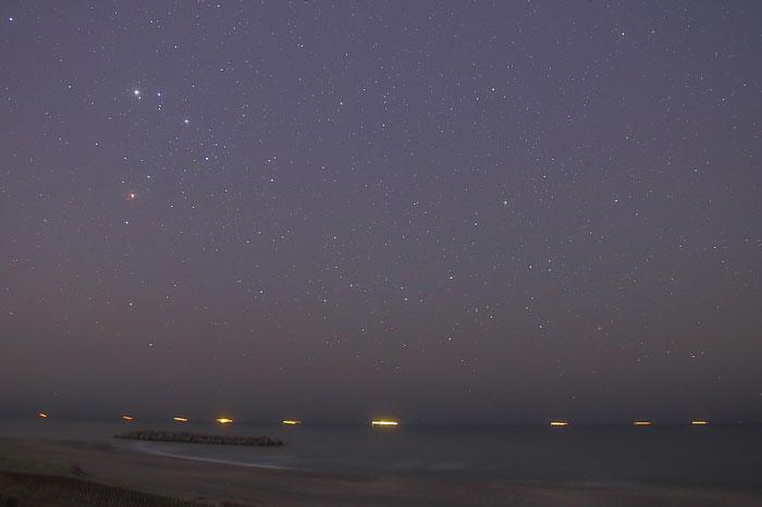 27/03/27 (金) 1:21:42時点のさそり座周辺の星