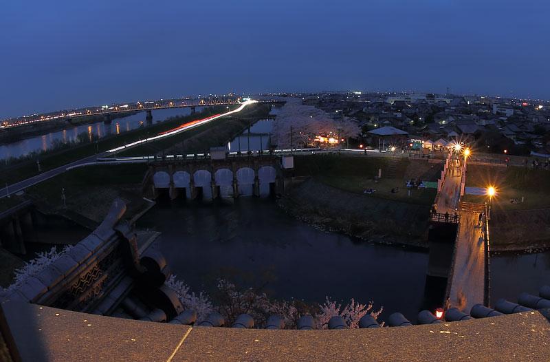 天守閣展望台からの夜景(南側)