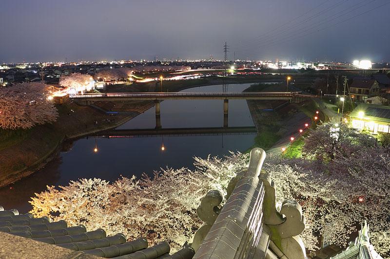 天守閣展望台からの夜景(西側)