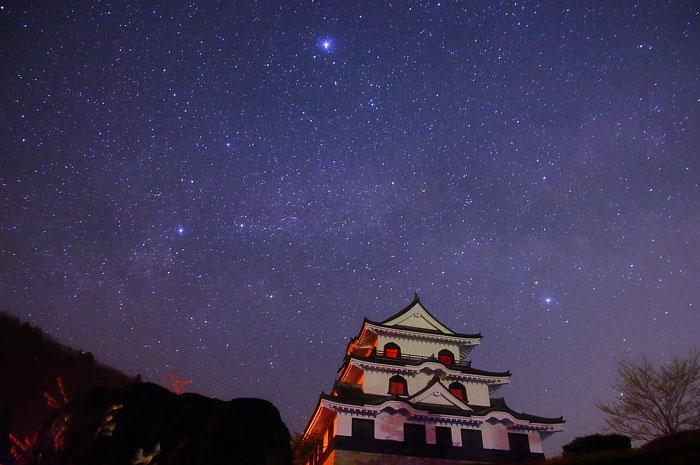 藤橋城と夏の大三角