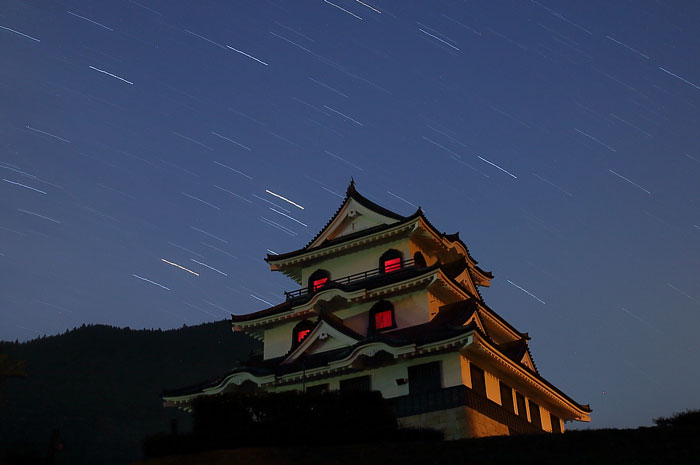 星が降る藤橋城