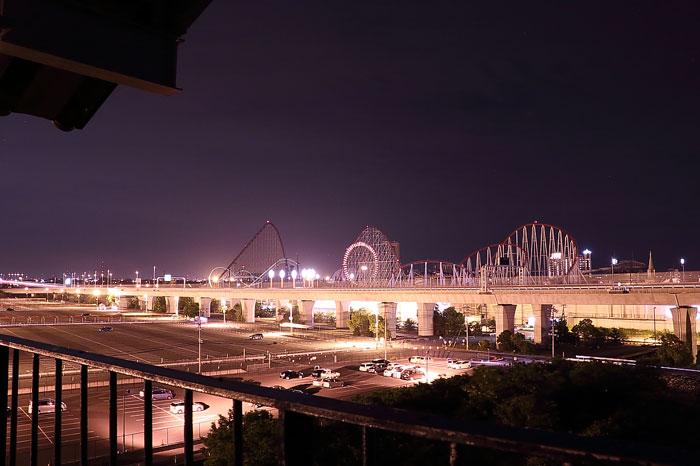 伊勢湾台風記念館からみた長島スパーランドの夜景
