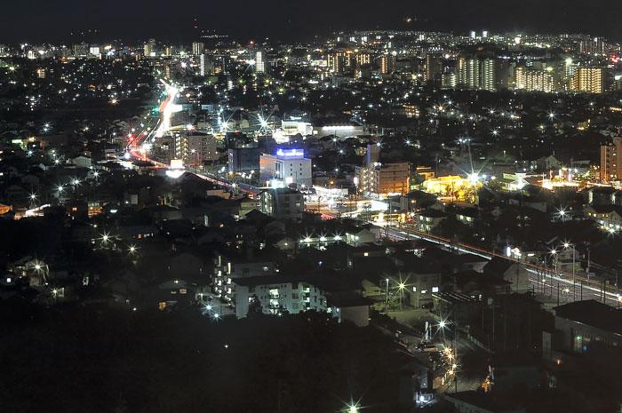 スカイワードあさひ展望台からの夜景