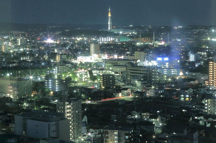 瀬戸デジタルタワーが見える夜景