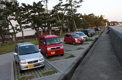 夫婦岩の駐車場
