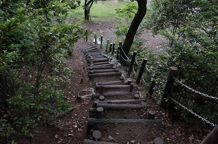 展望台に続く階段