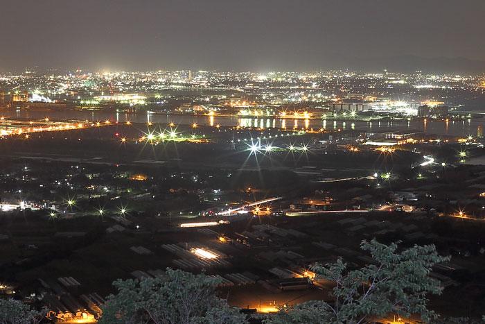 蔵王山展望台からの夜景(北東)