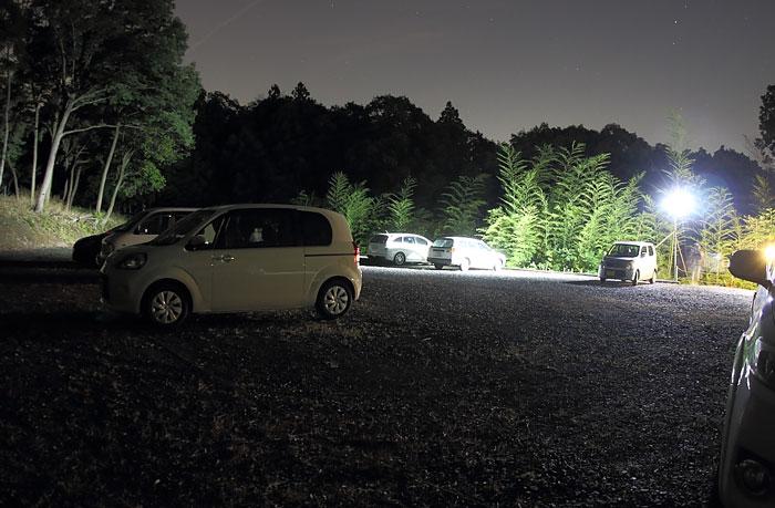 鈴鹿ほたるの里の駐車場