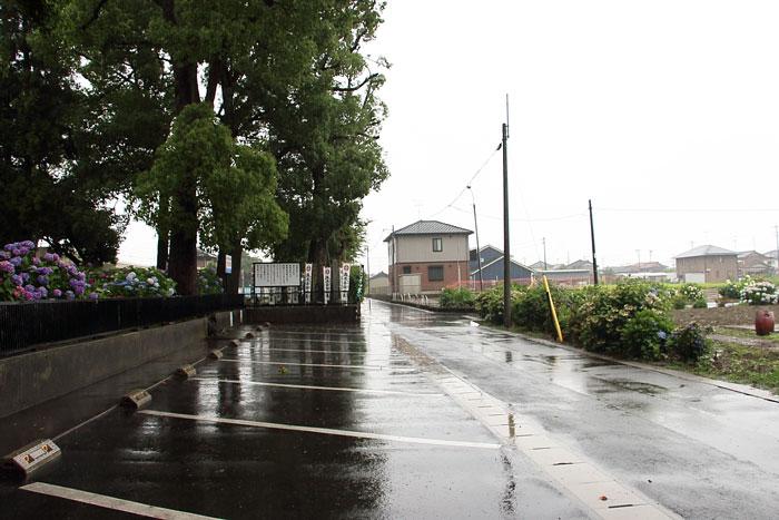 音楽寺の駐車場