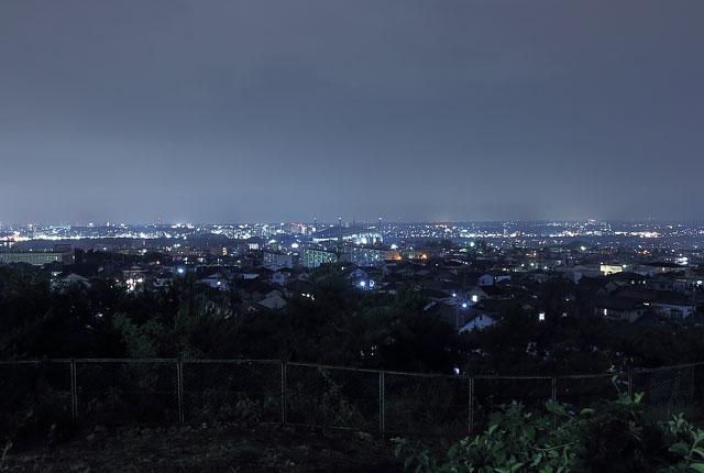 宝来南公園の北西の夜景