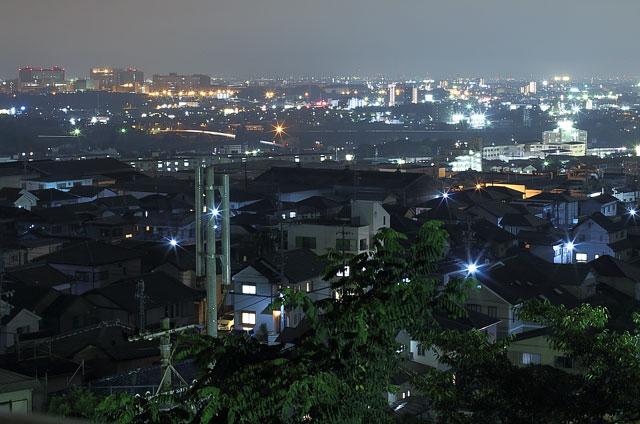 展望塔からの夜景(南西)