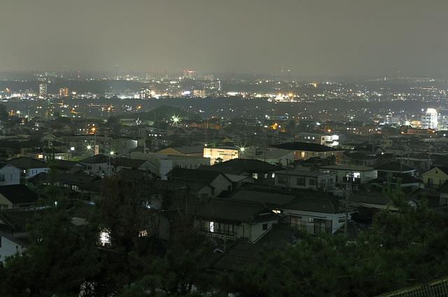 宝来南公園から望む名古屋方面の夜景