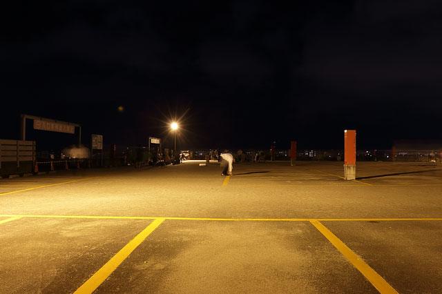 ベネトンアピタ向山の屋上駐車場