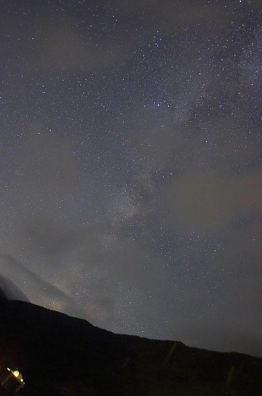 天の川と星空