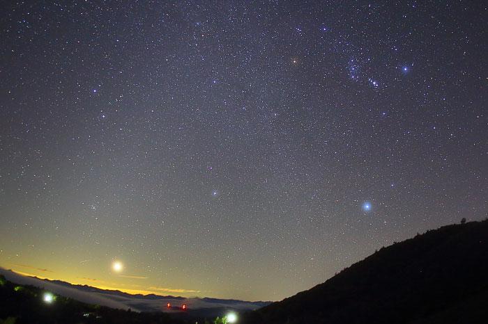 茶臼山高原から望む秋の星空