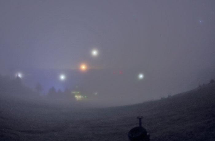霧に包まれた茶臼山高原