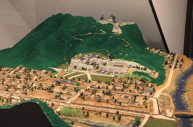 城下町のジオラマ