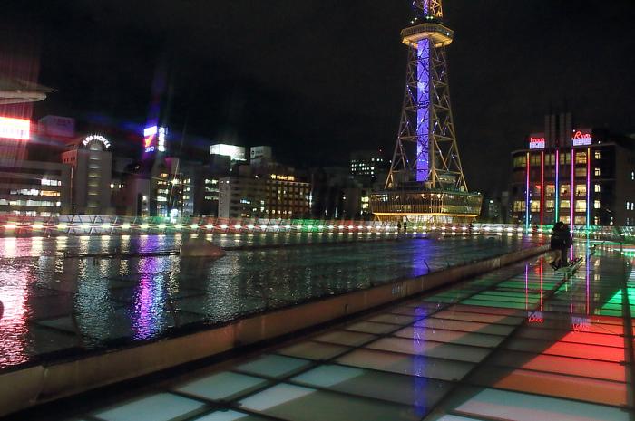 オアシス21屋上から望む夜景