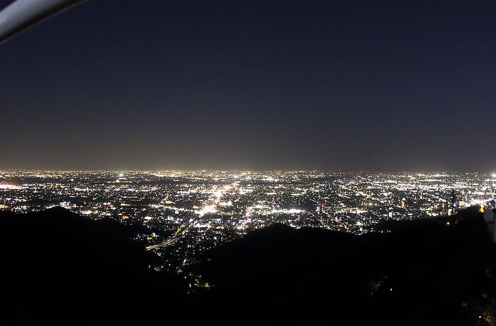 岐阜城天守閣から望む愛知県の夜景