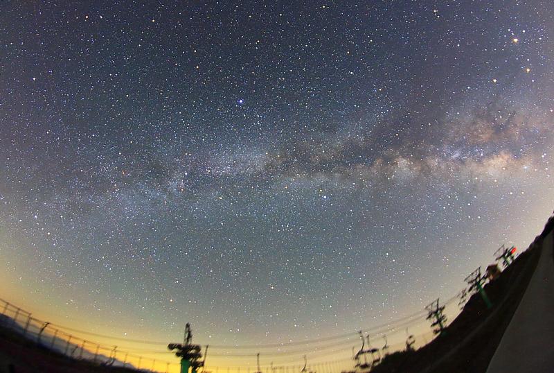 茶臼山高原の天の川