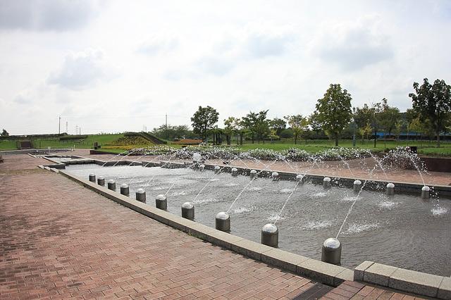 鈴鹿フラワーパークの噴水