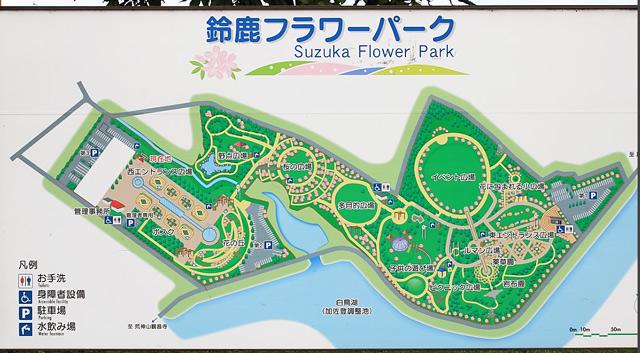 鈴鹿フラワーパークの地図