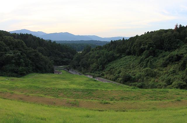 水嶺湖から望む風景