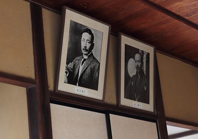 夏目漱石と森鴎外の掛け軸