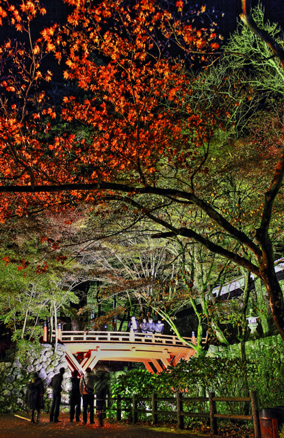 横蔵寺の紅葉を見に来た人々