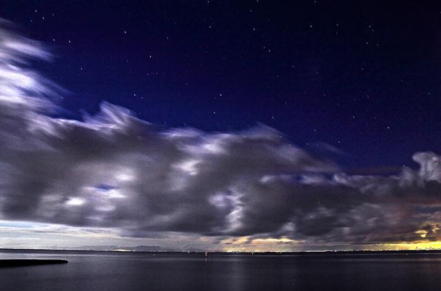 知多半島の海の星空