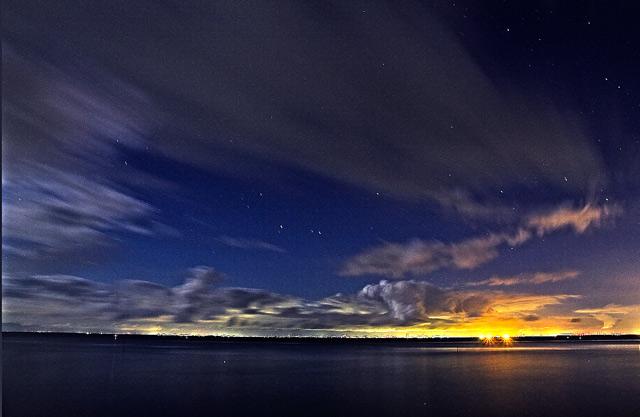 南知多の海の星空