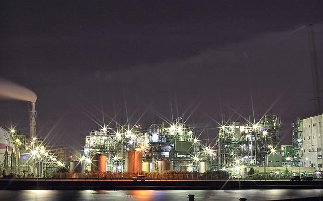 霞コンビナートの夜景