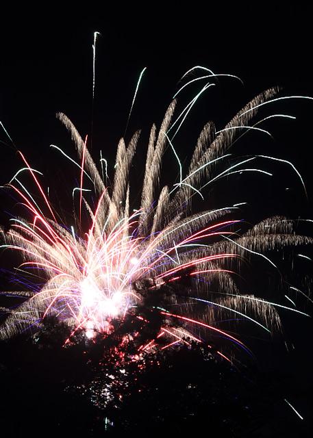中村公園の花火