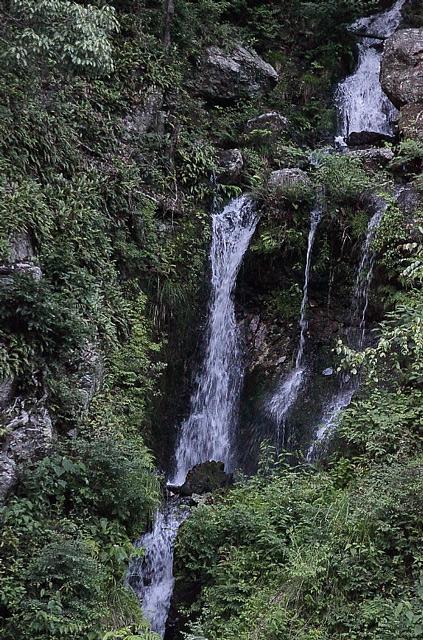 滝の拡大図