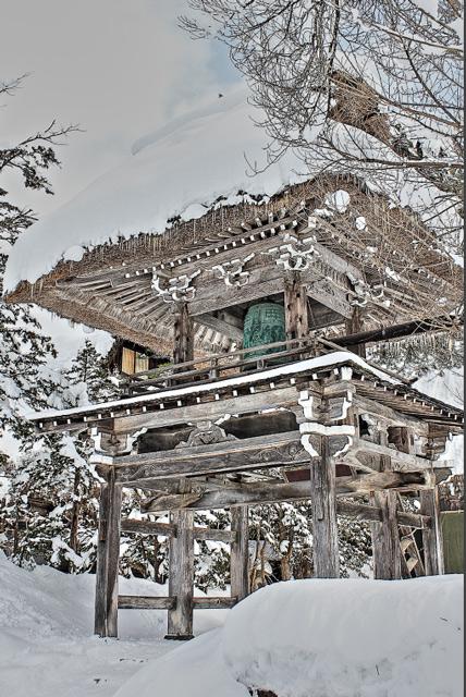 明善寺の鐘桜門庫裡