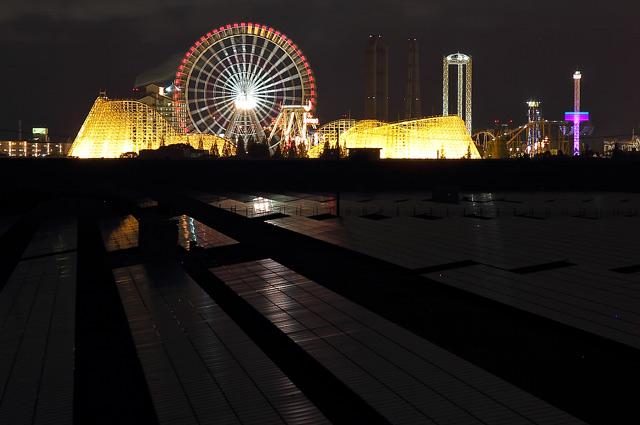 長嶋遊園地の夜景
