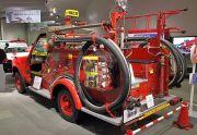後ろから見た消防車