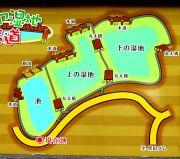 タカドヤ湿地のマップ