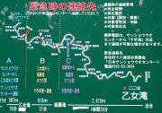 48カ所の滝の位置が書かれた散策用地図