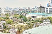 名古屋城天守閣からの景色(名古屋市役所など)