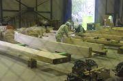 本丸御殿復元工事・木材加工場の見学ルート
