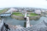 天守閣展望台からの眺望(長良大橋と羽島市内方面)