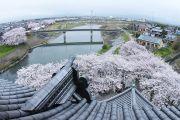 天守閣展望台からの眺望(JR大垣駅方面)