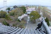天守閣展望台からの眺望(白鬚神社、瑞穂市方面)
