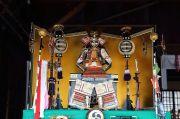 業葉神社に飾られていた鎧兜(五月人形)