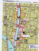 半田運河周辺の観光案内図
