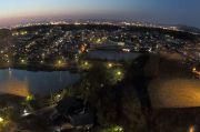 北側の夜景(魚眼レンズ)
