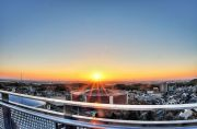 藤が丘デザイン公園展望台からの日の出(全景)